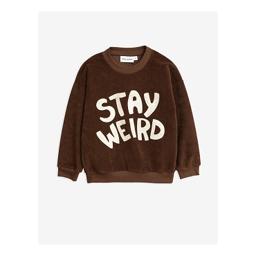 Mini Rodini Stay Weird Brown Sweatshirt