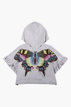 Paper Wings Star Butterfly Oversized Frilled Hoodie