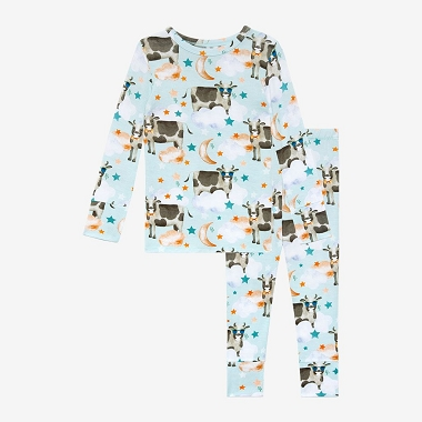 Posh Peanut Tex Long Sleeve Basic Pajama Set