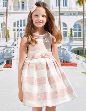 Abel and Lula Striped Pink Dress