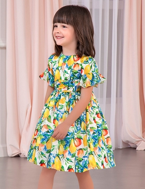 Abel and Lula Satin Lemons Dress