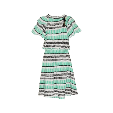 Mim Pi Girls Short Sleeve Boho Dress