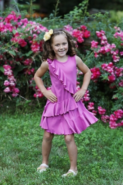 Lemon Loves Lime Rad Orchid Cascading Dress