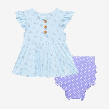 Posh Peanut Grace Peplum Top and Bloomer Set