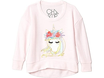 Chaser Girls Unicorn Princess Pink Pullover