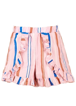 Hannah Banana Striped Wrap Shorts W Frills