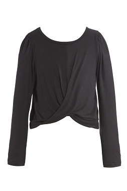 Hannah Banana Knotted Long Sleeve Top