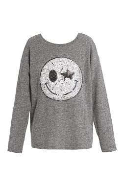 Hannah Banana Smiley Face Long Sleeve Top