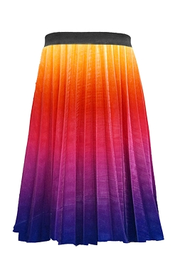 Hannah Banana Rainbow Ombre Pleated Skirt