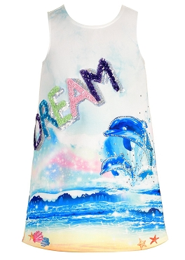 Hannah Banana Dolphin Print Tank Dress