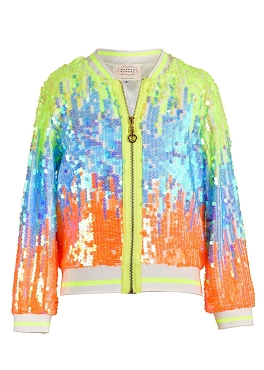 Hannah Banana Colorful Sequin Bomber Jacket *PRE ORDER
