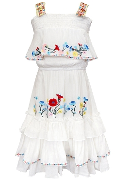 Hannah Banana White Ruffle Tired Dress *PRE ORDER