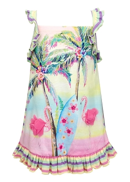 Baby Sara Flamingo Print Dress