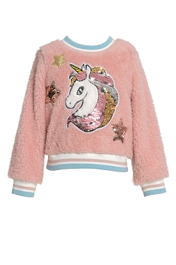 Baby Sara Unicorn Sherpa Sweater Top