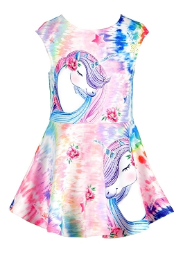 Baby Sara Unicorn Print Dress *PRE ORDER