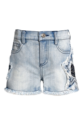 Baby Sara Stone Wash Star Denim Shorts