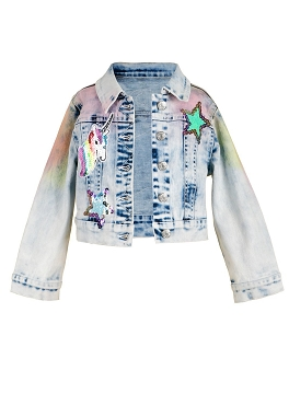 Baby Sara Rainbow Denim Jacket *PRE ORDER