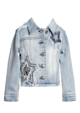 Baby Sara Star Sone Wash Denim Jacket