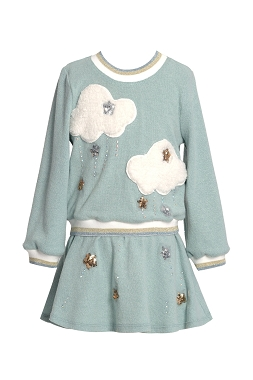 Baby Sara Star and Cloud Twofer Dress