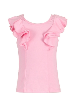 Baby Sara Pink Double Ruffle Top