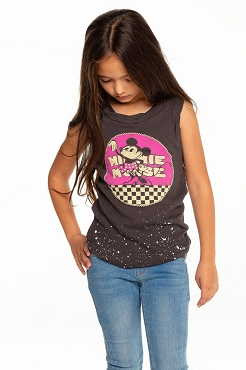 Chaser Minnie Mouse Black Tank
