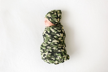 Posh Peanut Cadet Infant Swaddle and Beanie Set