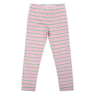 Paper Wings Pink Khaki Stripe Legging