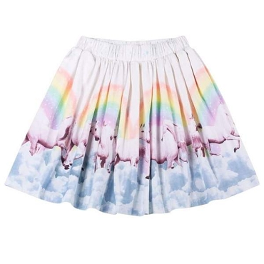 Paper Wings Rainbow Horses Gathered Skirt