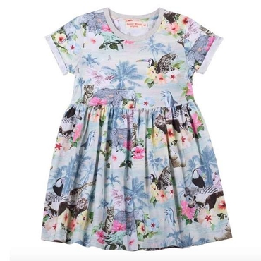 Paper Wings Hawaiian Print Dress