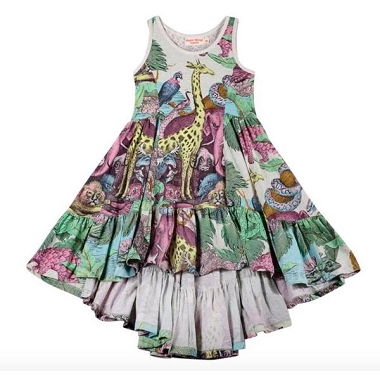 Paper Wings Protect Swing Dress