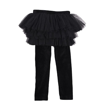 Rock Your Baby Velvet Circus Tights Black