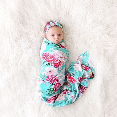 Posh Peanut Eloise Swaddle Headwrap Set