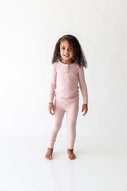 Posh Peanut Sweet Pink Loungewear Long Sleeve Henley