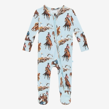 Posh Peanut Brody Footie Double Zippered One Piece