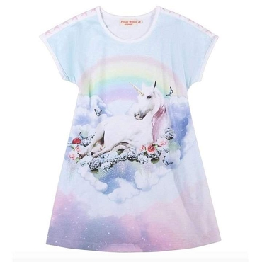 Paper Wings Dress Unicorn Clouds