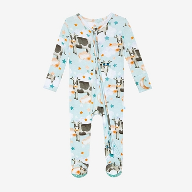 Posh Peanut Tex Footie Double Zippered One Piece