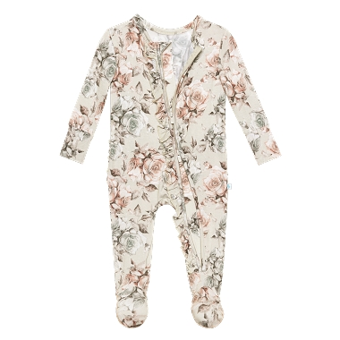 Posh Peanut Daniella Footie Ruffled Zippered One Piece
