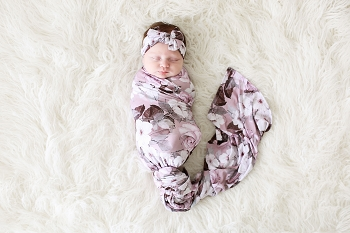 Posh Peanut Nikki Swaddle Headwrap Set