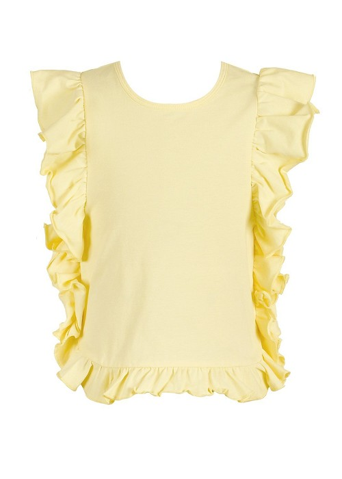 Baby Sara Yellow Ruffle Tunic