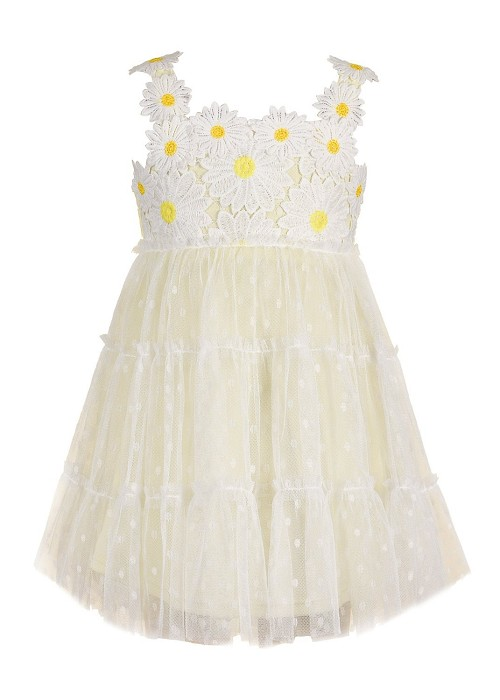 Baby Sara Empire Polka Dot Dress Yellow